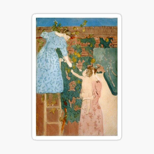 Gathering Fruit - Mary Cassatt - 1895 Sticker