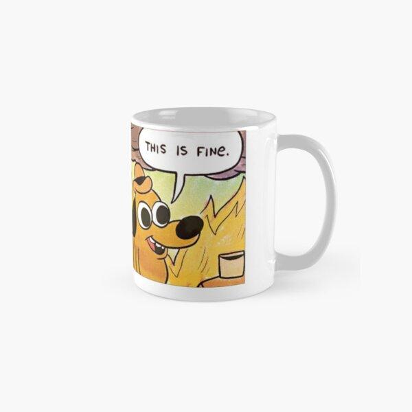 THIS IS FINE Gunshow dog SAME Classic Mug
