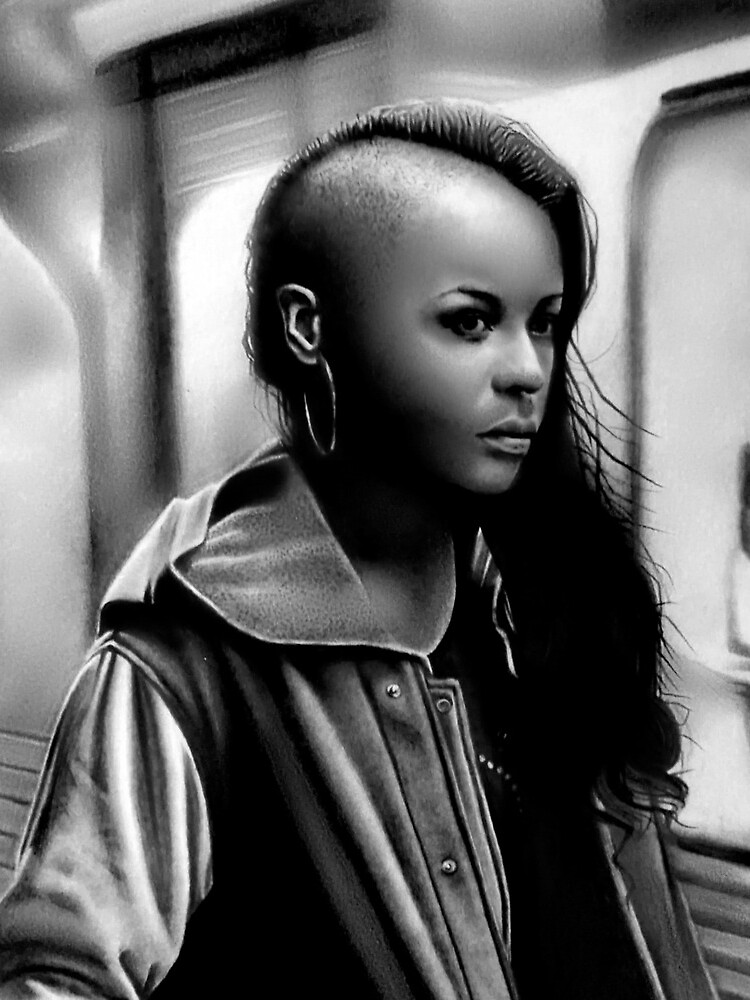 In Transit (Graphite drawing) by SicadaArt