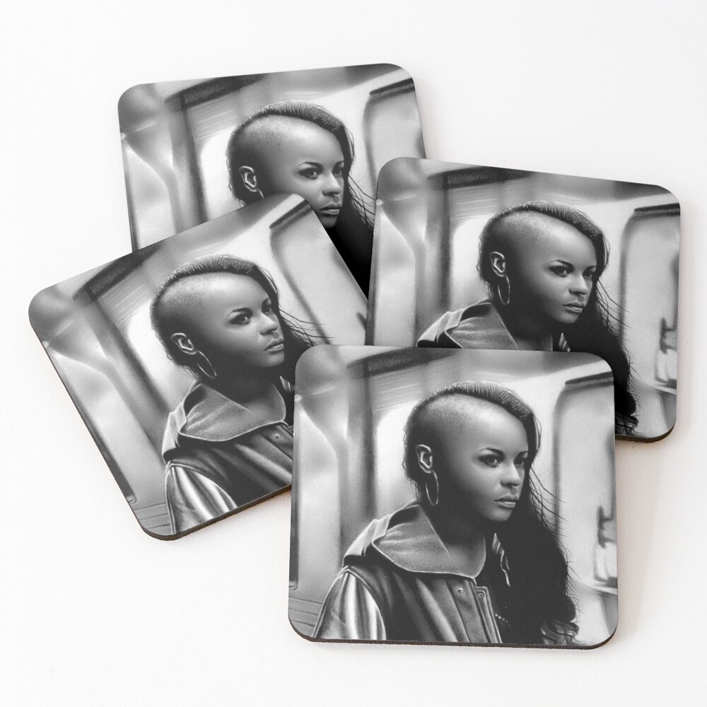In Transit (Graphite drawing) Coasters (Set of 4)