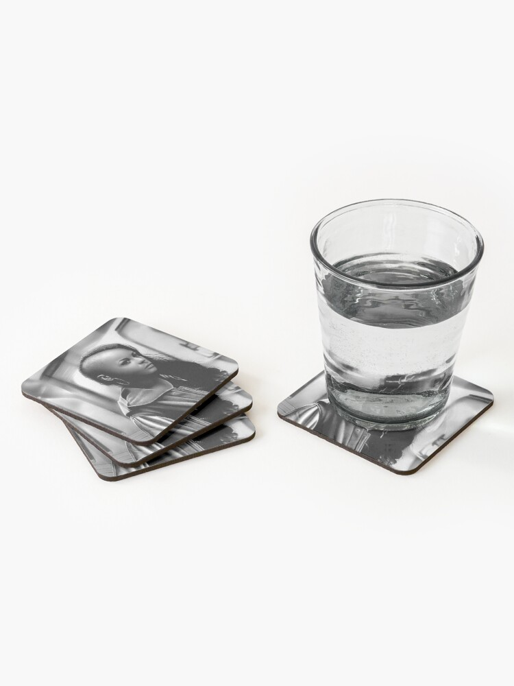Alternate view of In Transit (Graphite drawing) Coasters (Set of 4)