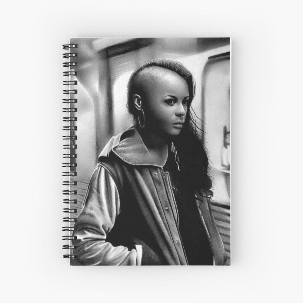 In Transit (Graphite drawing) Spiral Notebook
