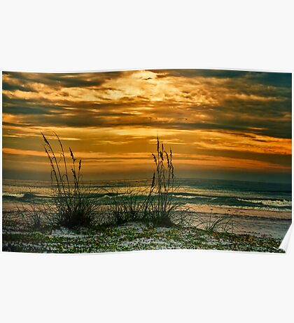 Sunset on the Gulf Poster