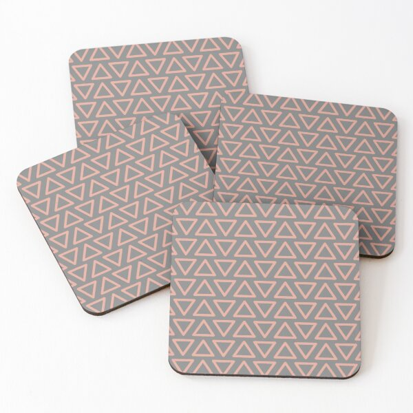 Trokutan (Coral) Coasters (Set of 4)