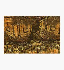 Escheristic Aztec City Photographic Print