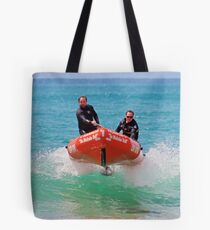 IRB action at Lorne (02) Tote Bag