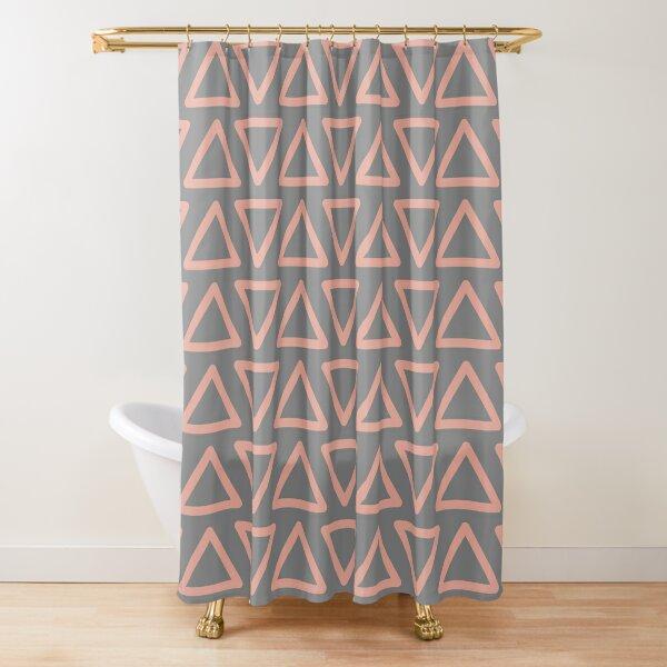Trokutan (Coral) Shower Curtain
