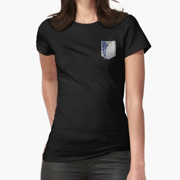 Attack on titan wings of freedom Fitted T-Shirt
