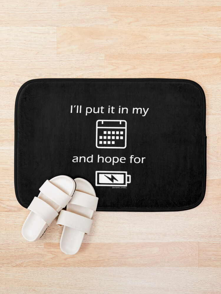 Alternate view of Hope For Energy Bath Mat