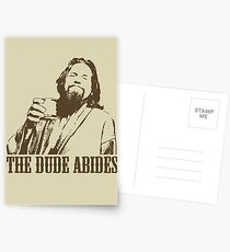 The Big Lebowski The Dude Abides T-Shirt Postcards