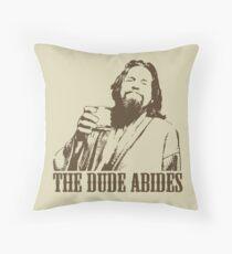 The Big Lebowski The Dude Abides T-Shirt Throw Pillow