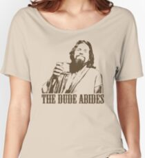 The Big Lebowski The Dude Abides T-Shirt Women's Relaxed Fit T-Shirt