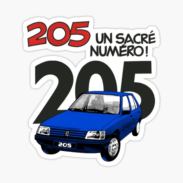 PEUGEOT 205 (BLEU) Sticker
