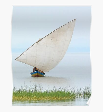 Dhow on Lake Victoria, Tanzania Poster