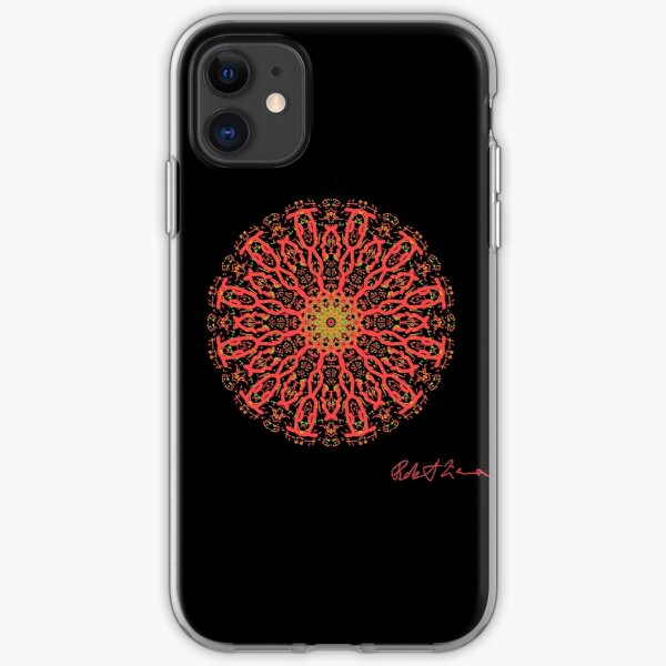 Red Healing Mandala 5002 iPhone Soft Case