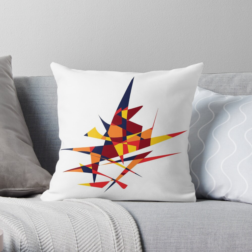 Wizard's Hat, Abstract (Designed by Just Stories) Throw Pillow