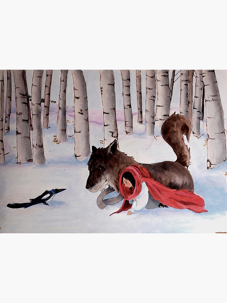 little Red Riding Hood, wolf and magpie by silexelis