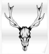 Deer dots tattoo  Poster