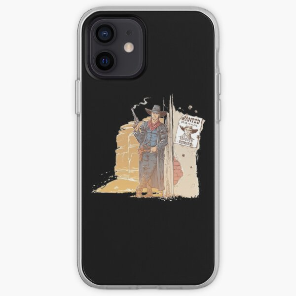 robber with smoking gun iPhone Soft Case