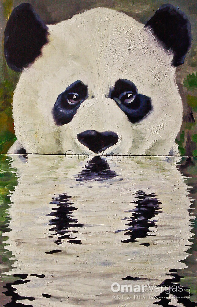 Quot Wet Panda Quot By Omar Vargas Redbubble