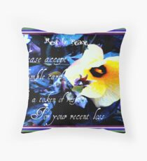 CONDOLENCE CARD Throw Pillow