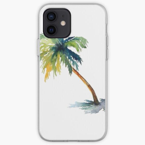 Watercolor palm tree iPhone Soft Case