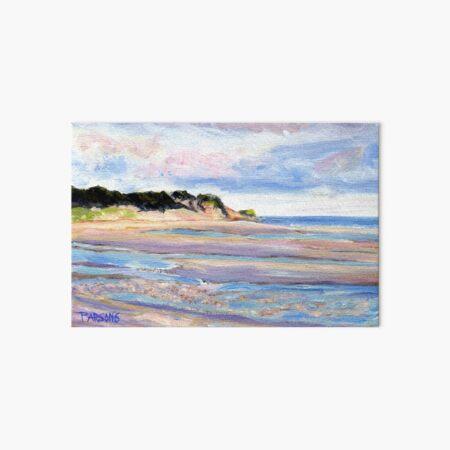 Tidal Flats, Cape Cod, National Seashore, Wellfleet, Beach, Dunes, Ocean, Pamela Parsons, oil painting, Massachusetts coast Art Board Print