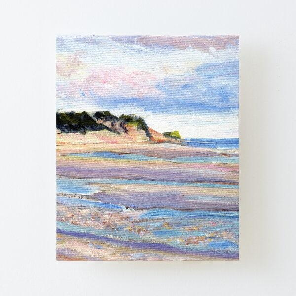 Tidal Flats, Cape Cod, National Seashore, Wellfleet, Beach, Dunes, Ocean, Pamela Parsons, oil painting, Massachusetts coast Canvas Mounted Print