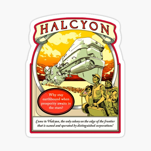 Halcyon, the Outer Worlds Sticker