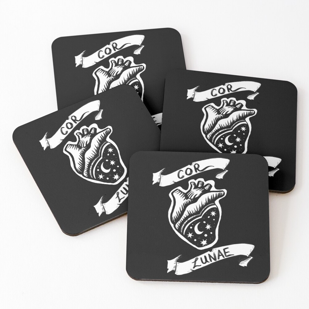 Cor Lunae (Moon Heart) Coasters (Set of 4)