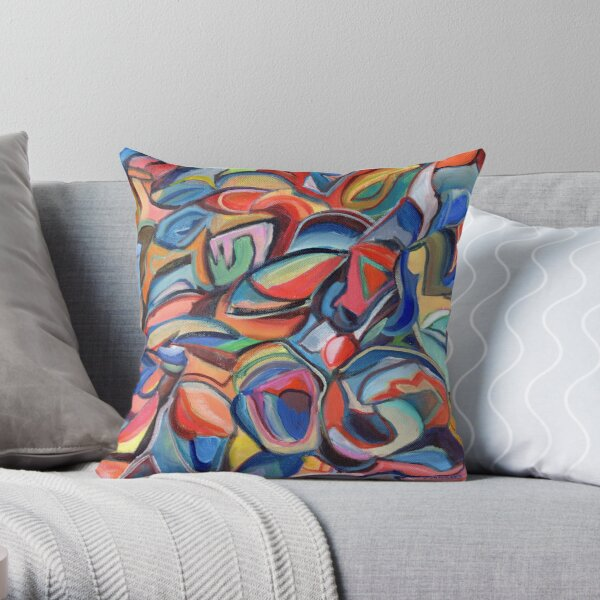 Dancing Shoes, abstract expressionist acrylic painting by Pamela Parsons. Dance Throw Pillow