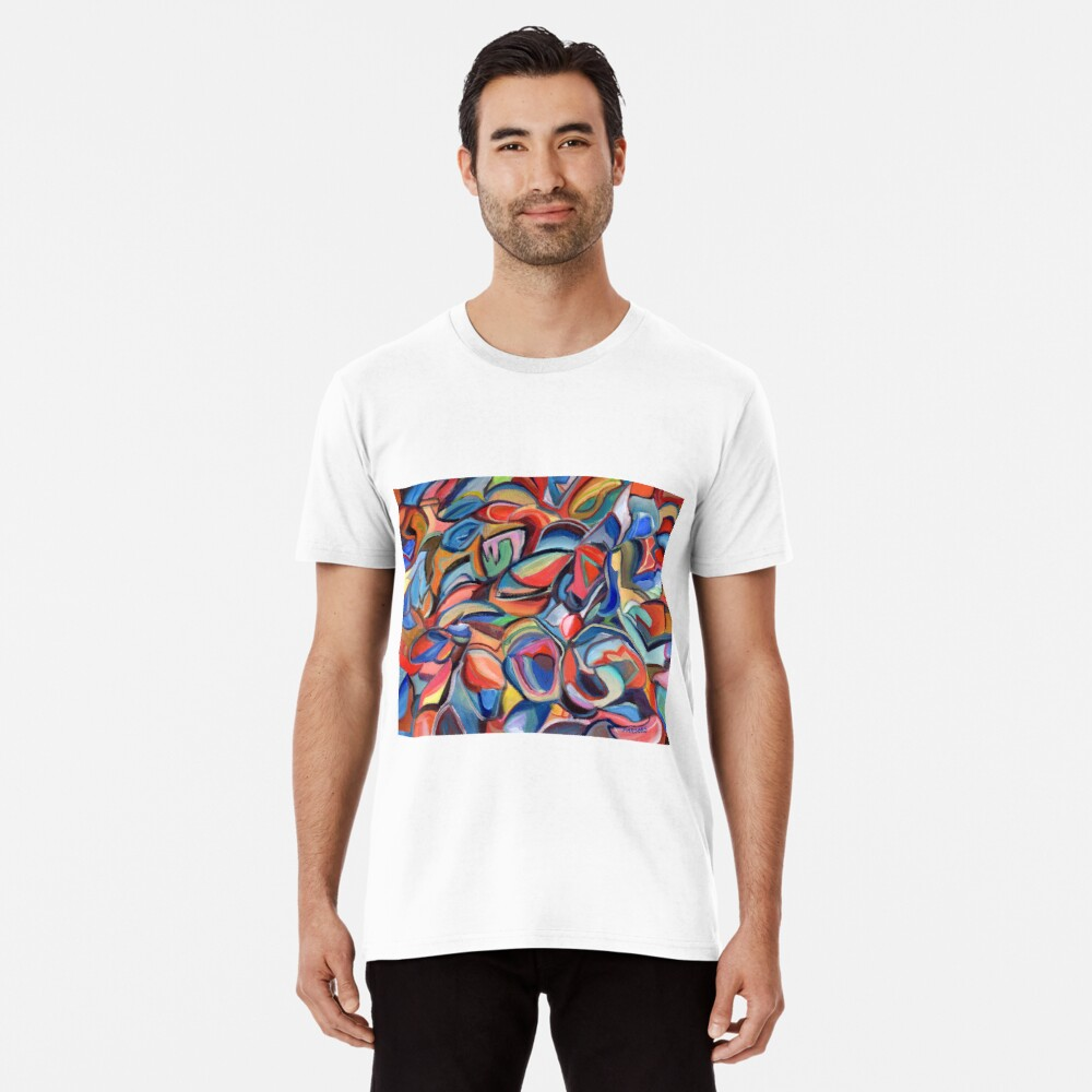 Dancing Shoes, abstract expressionist acrylic painting by Pamela Parsons. Dance Premium T-Shirt
