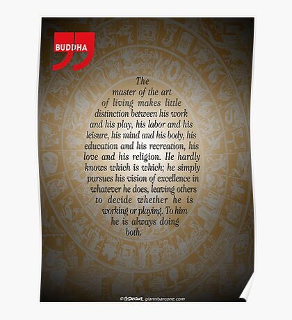The Master of Art (Buddha's Quote) Poster