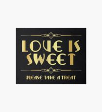 Great Gatsby / art deco style sweets sign Art Board