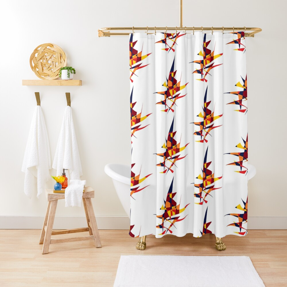 Wizard's Hat, Abstract (Designed by Just Stories) Shower Curtain