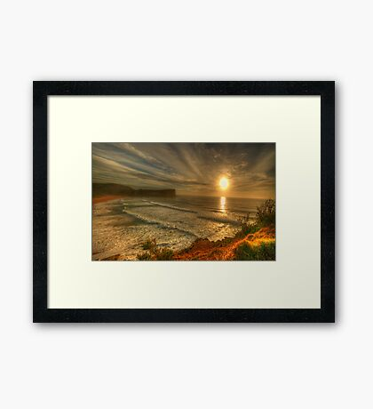 First Light - Avalon Headland, Sydney Australia- The HDR Experience Framed Print