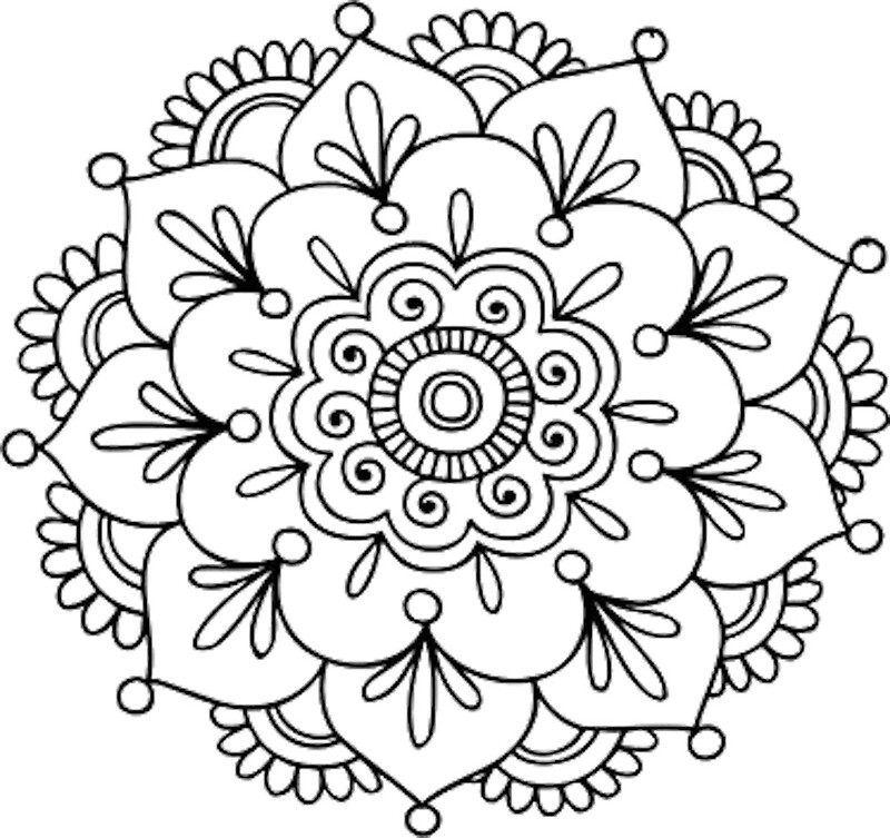 Quot Simple Mandala Flower Quot By Mermaidnatalie Redbubble
