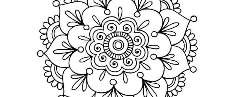 Quot Simple Mandala Flower Quot Mugs By Mermaidnatalie Redbubble