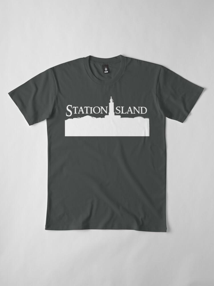 Alternate view of Station Island - Logo White Premium T-Shirt