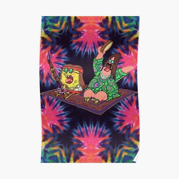hippie spongebob Poster