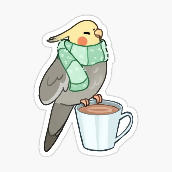 Cozy Cockatiel Sticker