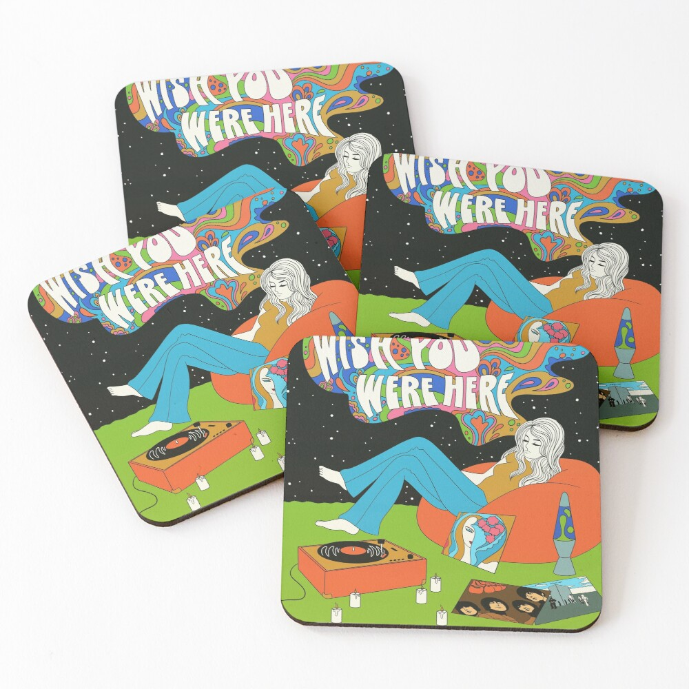 Wish you were here Coasters (Set of 4)