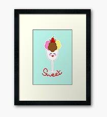 Cute Fun Ice Cream Sundae Sweet Framed Print