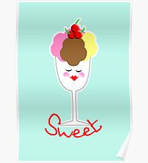 Cute Fun Ice Cream Sundae Sweet Poster