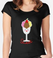 Cute Fun Ice Cream Sundae Sweet Women's Fitted Scoop T-Shirt
