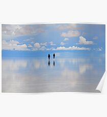 Salar de Uyuni, flooded, Bolivia Poster