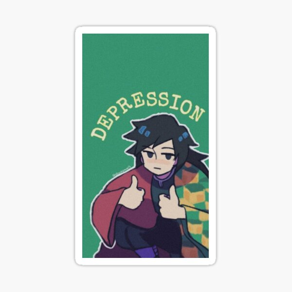 Lutte contre la depression Sticker fini brillant