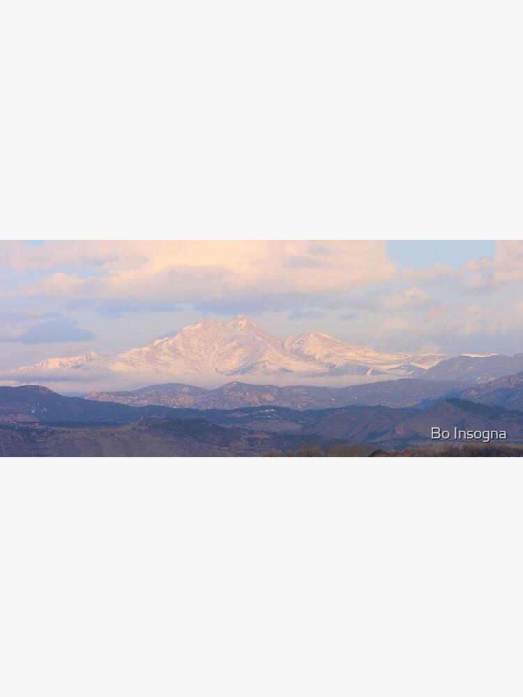 Meeker and Longs Peak Twin Peaks Panorama Color Image by mrbo