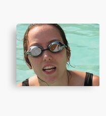 Pool goggles Canvas Print