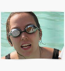Pool goggles Poster